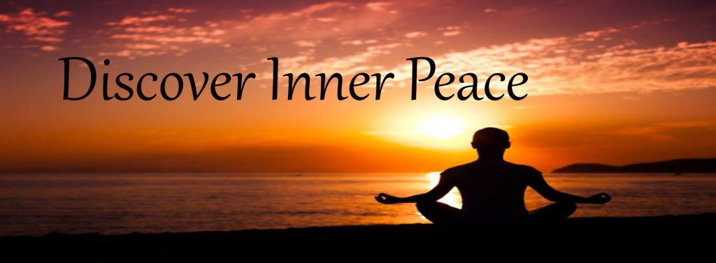 meditating at sunset image